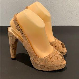Authentic Stuart Weitzman nude heels sandals 7.5